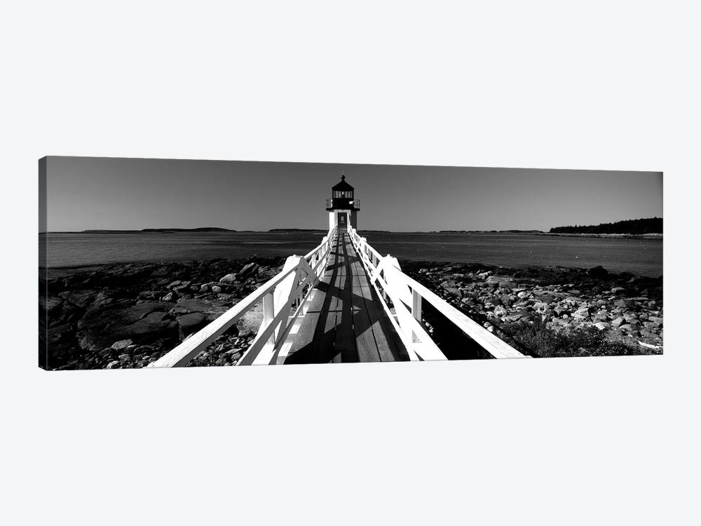 Lighthouse On The Coast, Marshall Point Lighthouse, Built 1832, Rebuilt 1858, Port Clyde, Maine, USA by Panoramic Images 1-piece Art Print