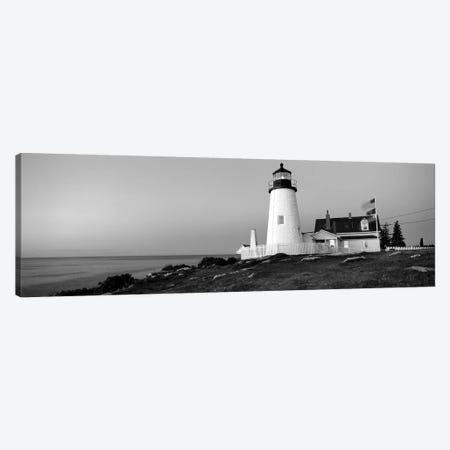 Lighthouse On The Coast, Pemaquid Point Lighthouse Built 1827, Bristol, Lincoln County, Maine, USA Canvas Print #PIM15167} by Panoramic Images Canvas Art