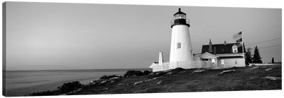 Lighthouse On The Coast, Pemaquid Point Lighthouse Built 1827, Bristol, Lincoln County, Maine, USA Canvas Art Print