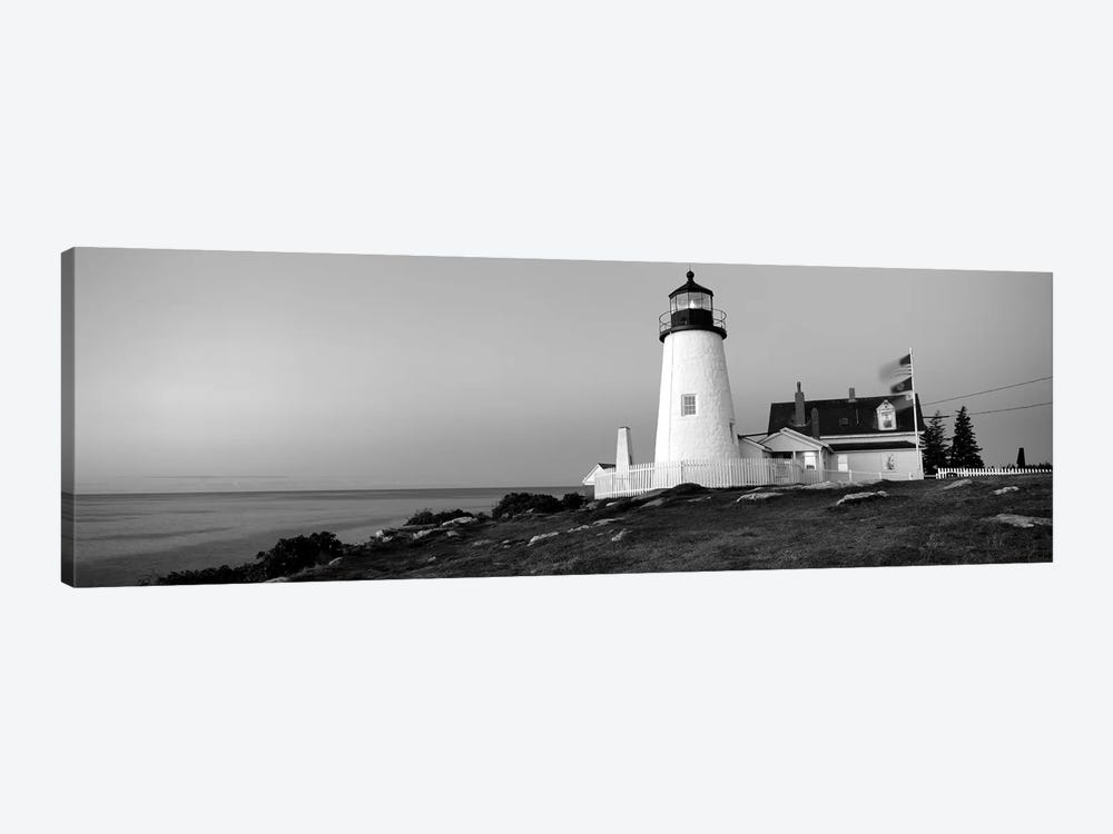 Lighthouse On The Coast, Pemaquid Point Lighthouse Built 1827, Bristol, Lincoln County, Maine, USA by Panoramic Images 1-piece Canvas Art
