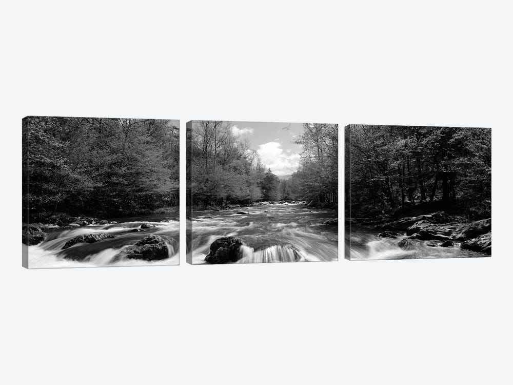 Little Pigeon River, Great Smoky Mountains National Park, Sevier County, Tennessee, USA by Panoramic Images 3-piece Canvas Art