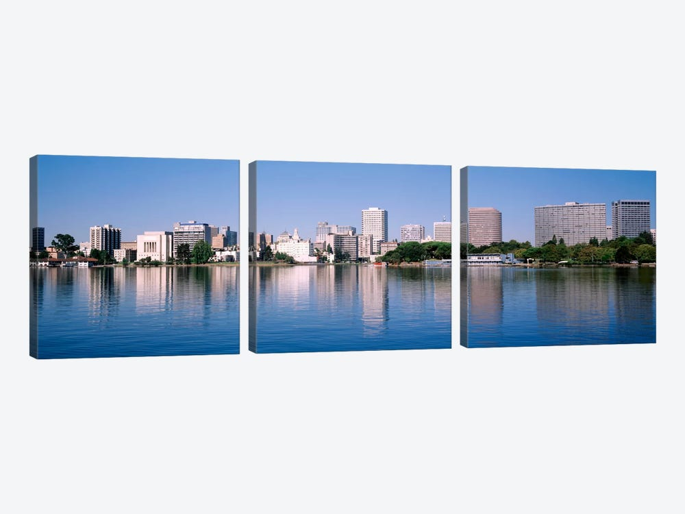 Panoramic View Of The Waterfront And Skyline, Oakland, California, USA by Panoramic Images 3-piece Art Print