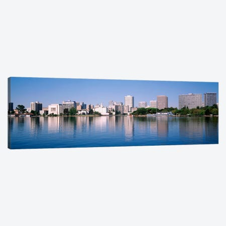 Panoramic View Of The Waterfront And Skyline, Oakland, California, USA Canvas Print #PIM1516} by Panoramic Images Canvas Art