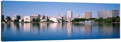 Panoramic View Of The Waterfront And Skyline, Oakland, California, USA Canvas Art Print