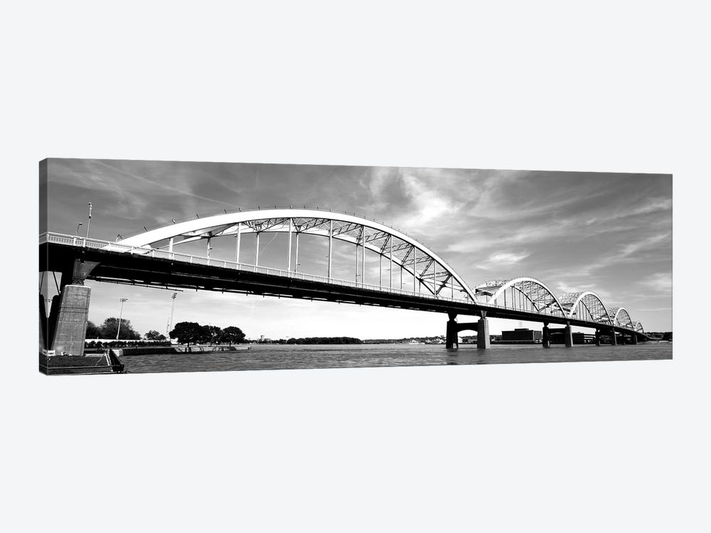 Low-Angle View Of A Bridge, Centennial Bridge, Davenport, Iowa, USA by Panoramic Images 1-piece Canvas Print