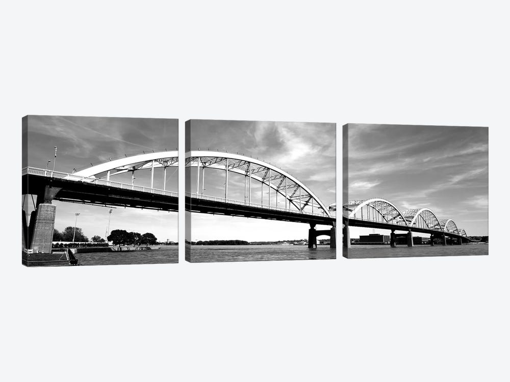 Low-Angle View Of A Bridge, Centennial Bridge, Davenport, Iowa, USA 3-piece Art Print