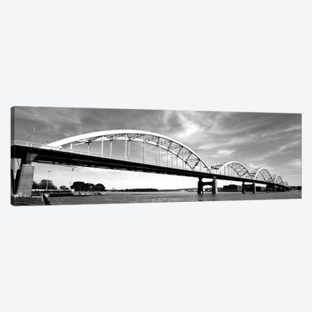 Low-Angle View Of A Bridge, Centennial Bridge, Davenport, Iowa, USA 3-Piece Canvas #PIM15171} by Panoramic Images Canvas Art