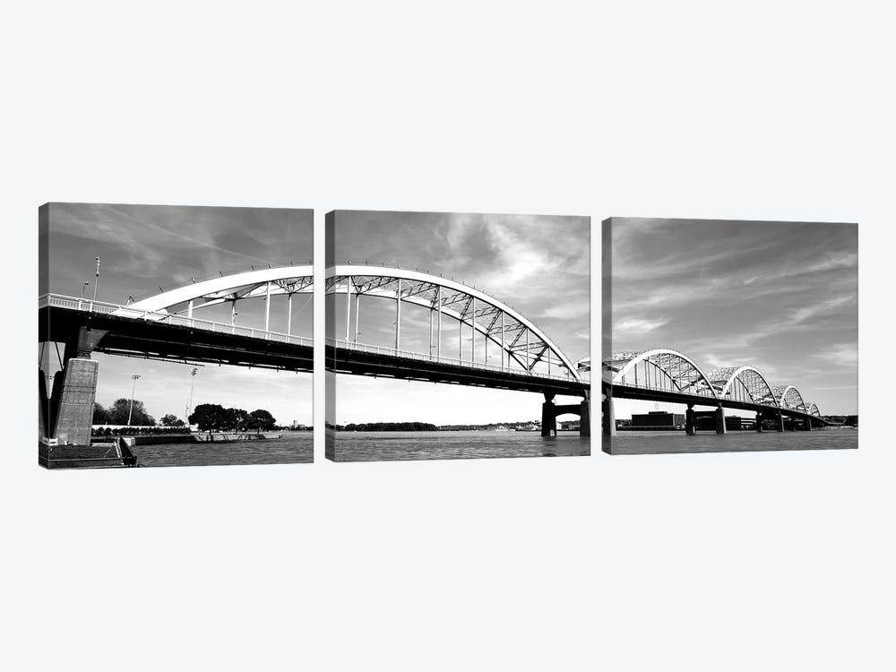 Low-Angle View Of A Bridge, Centennial Bridge, Davenport, Iowa, USA by Panoramic Images 3-piece Art Print