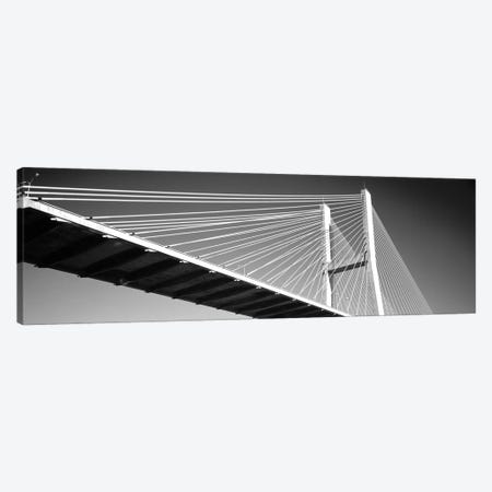 Low-Angle View Of A Bridge, Talmadge Memorial Bridge, Savannah, Georgia, USA Canvas Print #PIM15172} by Panoramic Images Canvas Artwork