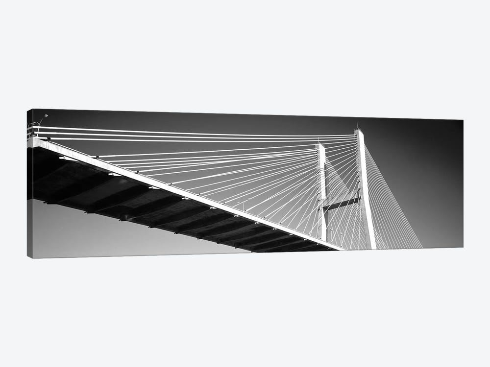 Low-Angle View Of A Bridge, Talmadge Memorial Bridge, Savannah, Georgia, USA by Panoramic Images 1-piece Canvas Wall Art