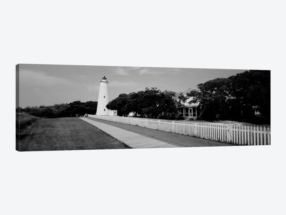 Low-Angle View Of A Lighthouse, Ocracoke Lighthouse, Ocracoke Island, North Carolina, USA 1-piece Canvas Art