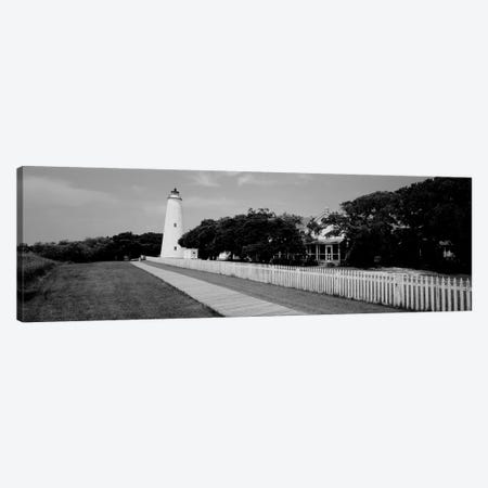 Low-Angle View Of A Lighthouse, Ocracoke Lighthouse, Ocracoke Island, North Carolina, USA 3-Piece Canvas #PIM15174} by Panoramic Images Art Print