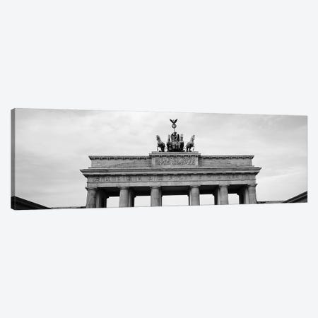 Low-Angle View Of Brandenburg Gate, Pariser Platz, Berlin, Germany Canvas Print #PIM15177} by Panoramic Images Canvas Print