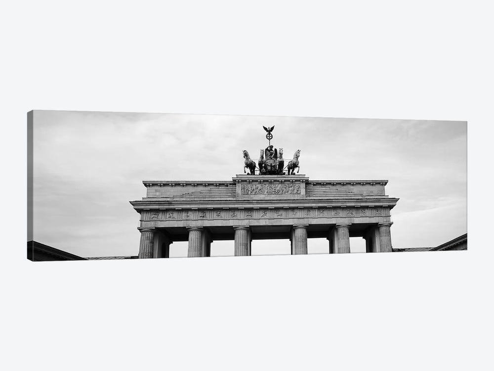 Low-Angle View Of Brandenburg Gate, Pariser Platz, Berlin, Germany by Panoramic Images 1-piece Art Print
