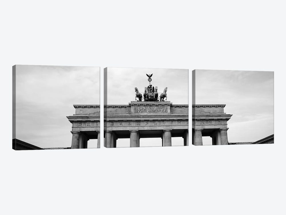 Low-Angle View Of Brandenburg Gate, Pariser Platz, Berlin, Germany by Panoramic Images 3-piece Canvas Art Print