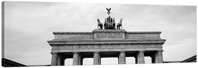 Low-Angle View Of Brandenburg Gate, Pariser Platz, Berlin, Germany Canvas Art Print