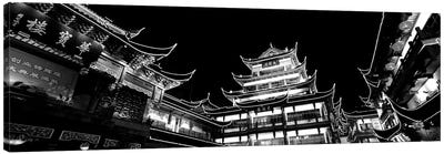 Low-Angle View Of Buildings Lit Up At Night, Old Town, Shanghai, China Canvas Art Print