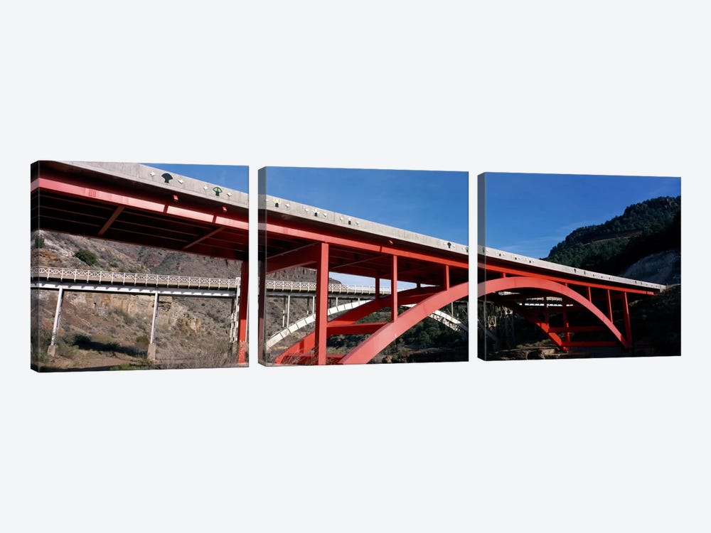 Two bridges San Carlos Indian Reservation AZ USA by Panoramic Images 3-piece Canvas Wall Art