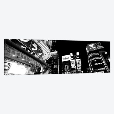 Low-Angle View Of Buildings Lit Up At Night, Shinjuku Ward, Tokyo Prefecture, Kanto Region, Japan Canvas Print #PIM15180} by Panoramic Images Art Print