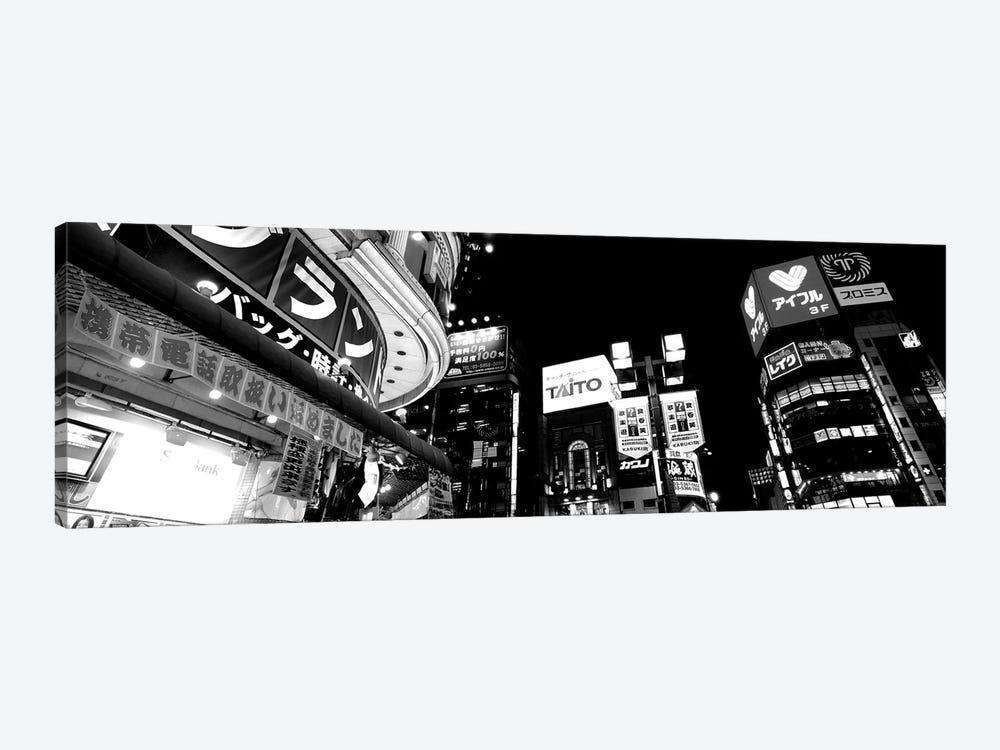 Low-Angle View Of Buildings Lit Up At Night, Shinjuku Ward, Tokyo Prefecture, Kanto Region, Japan by Panoramic Images 1-piece Art Print