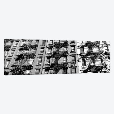 Low-Angle View Of Fire Escapes On Buildings, Little Italy, Manhattan, New York City, New York State, USA Canvas Print #PIM15182} by Panoramic Images Canvas Art Print