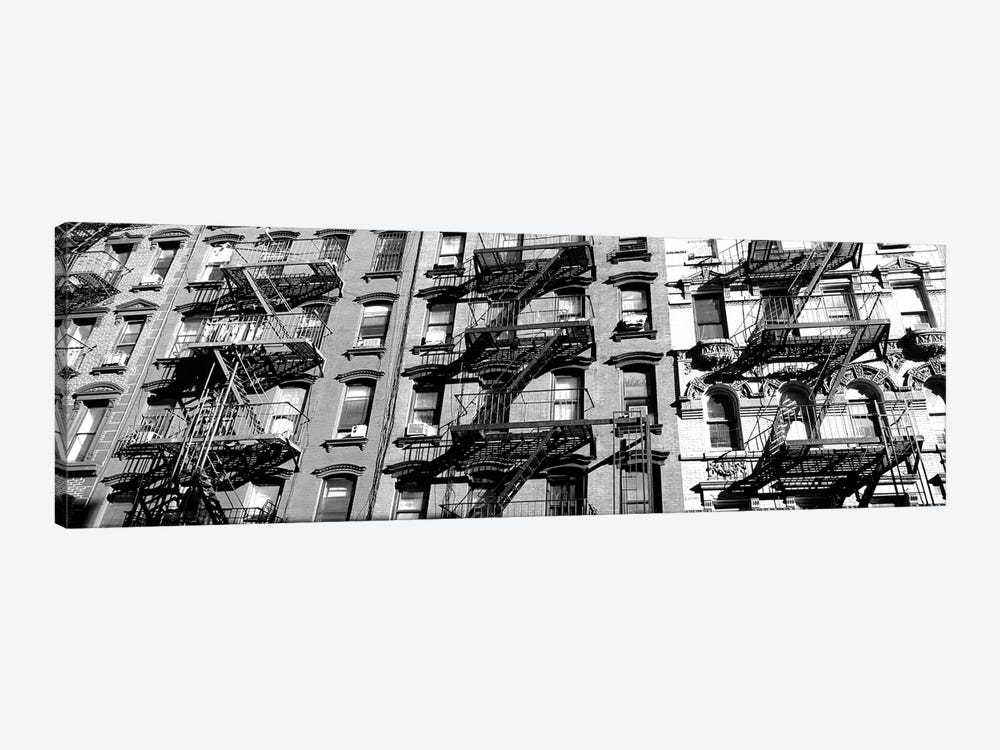 Low-Angle View Of Fire Escapes On Buildings, Little Italy, Manhattan, New York City, New York State, USA by Panoramic Images 1-piece Canvas Print