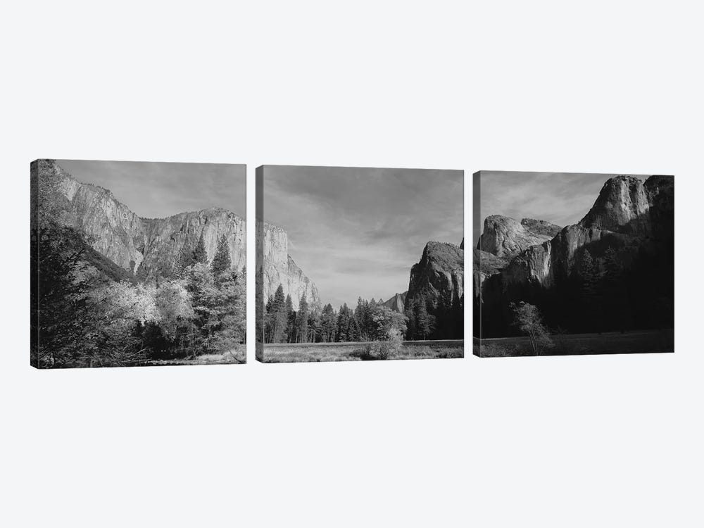 Low-Angle View Of Mountains In A National Park, Yosemite National Park, California, USA by Panoramic Images 3-piece Canvas Artwork