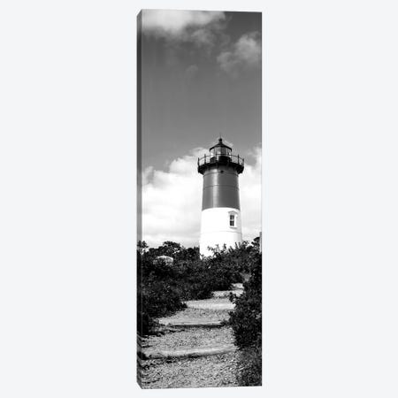 Low-Angle View Of Nauset Lighthouse, Nauset Beach, Eastham, Cape Cod, Barnstable County, Massachusetts, USA Canvas Print #PIM15184} by Panoramic Images Canvas Wall Art