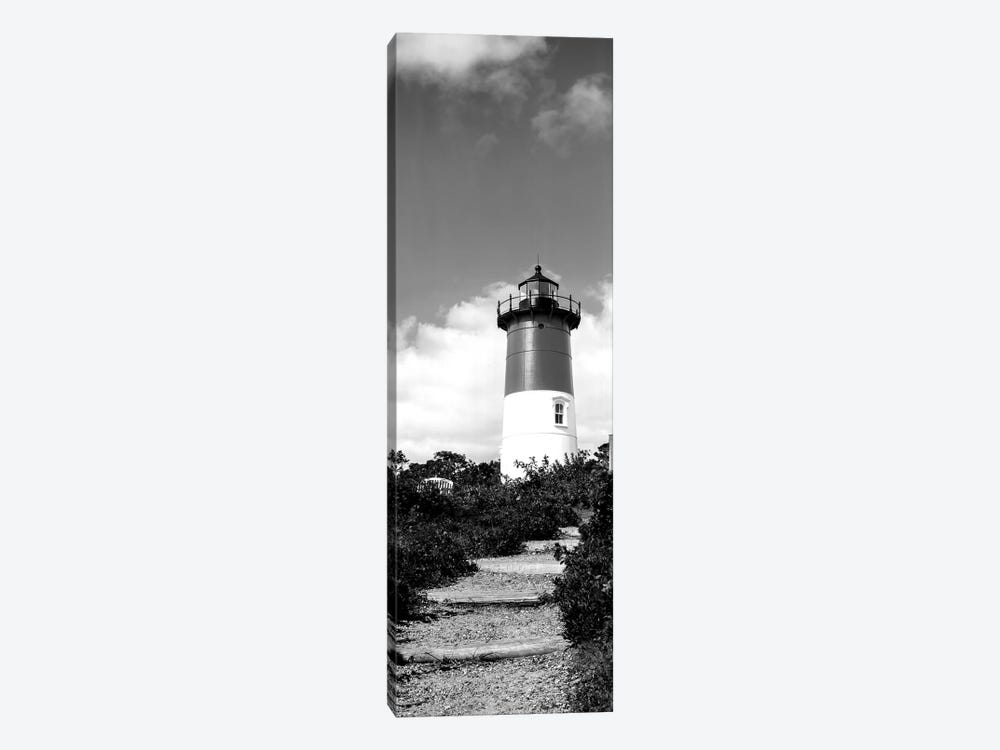 Low-Angle View Of Nauset Lighthouse, Nauset Beach, Eastham, Cape Cod, Barnstable County, Massachusetts, USA by Panoramic Images 1-piece Canvas Print