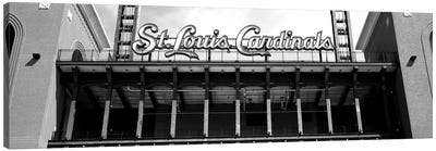 Low-Angle View Of The Busch Stadium In St. Louis, Missouri, USA Canvas Art Print