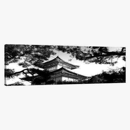 Low-Angle View Of Trees In Front Of Kinkaku-Ji Temple, Kyoto City, Kyoto Prefecture, Kinki Region, Honshu, Japan Canvas Print #PIM15187} by Panoramic Images Canvas Artwork
