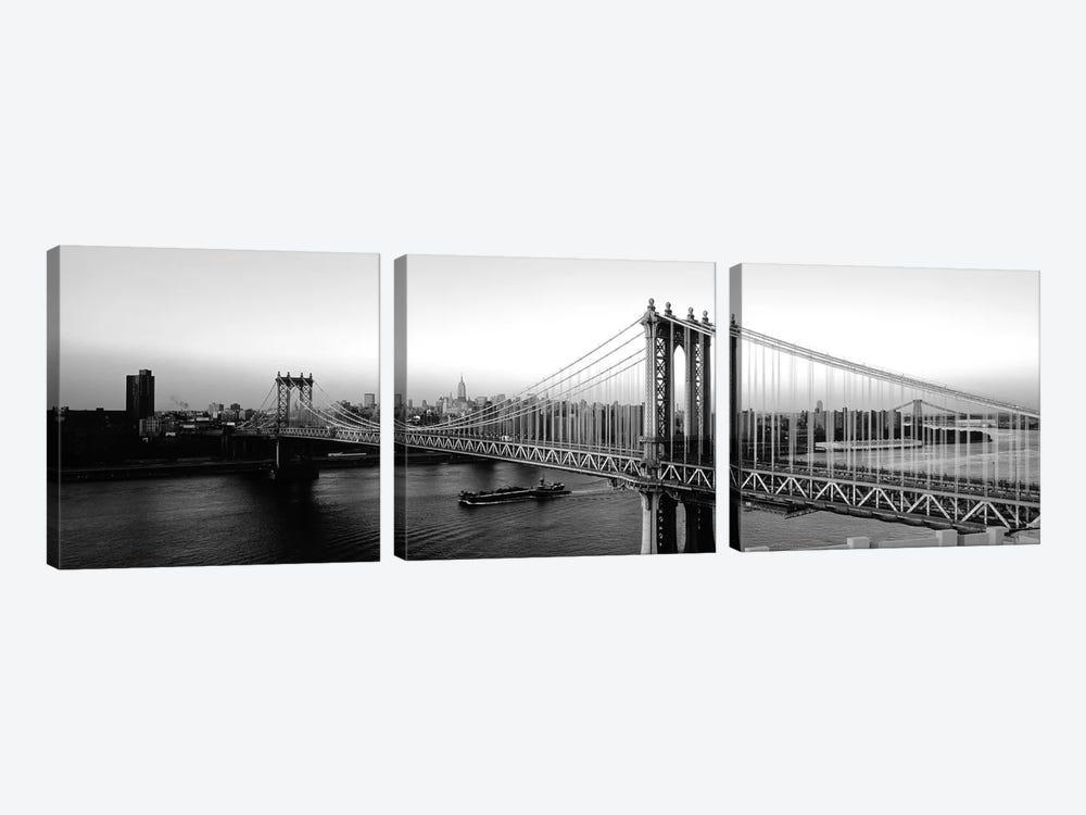 Manhattan Bridge, NYc, New York City, New York State, USA by Panoramic Images 3-piece Canvas Art Print