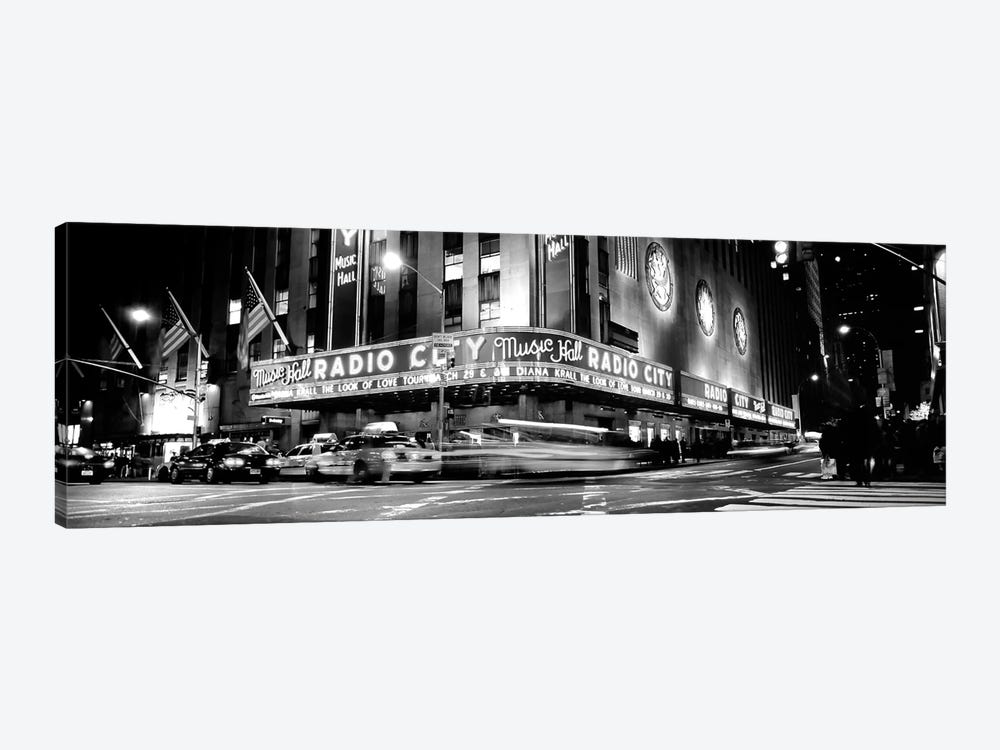 Manhattan, Radio City Music Hall, NYc, New York City, New York State, USA by Panoramic Images 1-piece Canvas Wall Art
