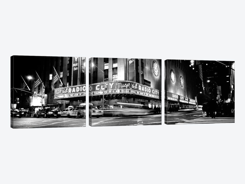 Manhattan, Radio City Music Hall, NYc, New York City, New York State, USA by Panoramic Images 3-piece Canvas Art