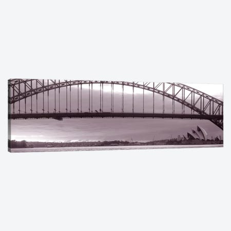 Harbor Bridge, Pacific Ocean, Sydney, Australia Canvas Print #PIM1518} by Panoramic Images Canvas Art Print