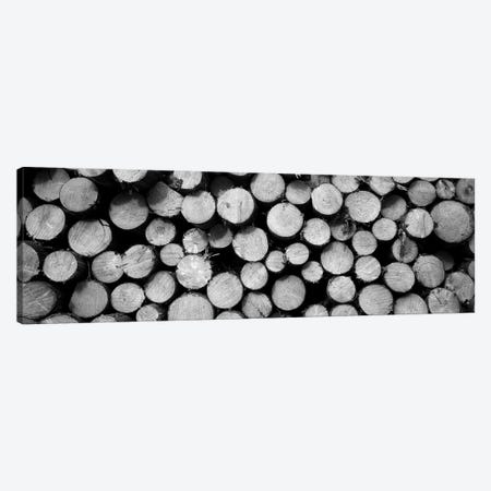 Marked Wood In A Timber Industry, Black Forest, Germany Canvas Print #PIM15190} by Panoramic Images Canvas Artwork