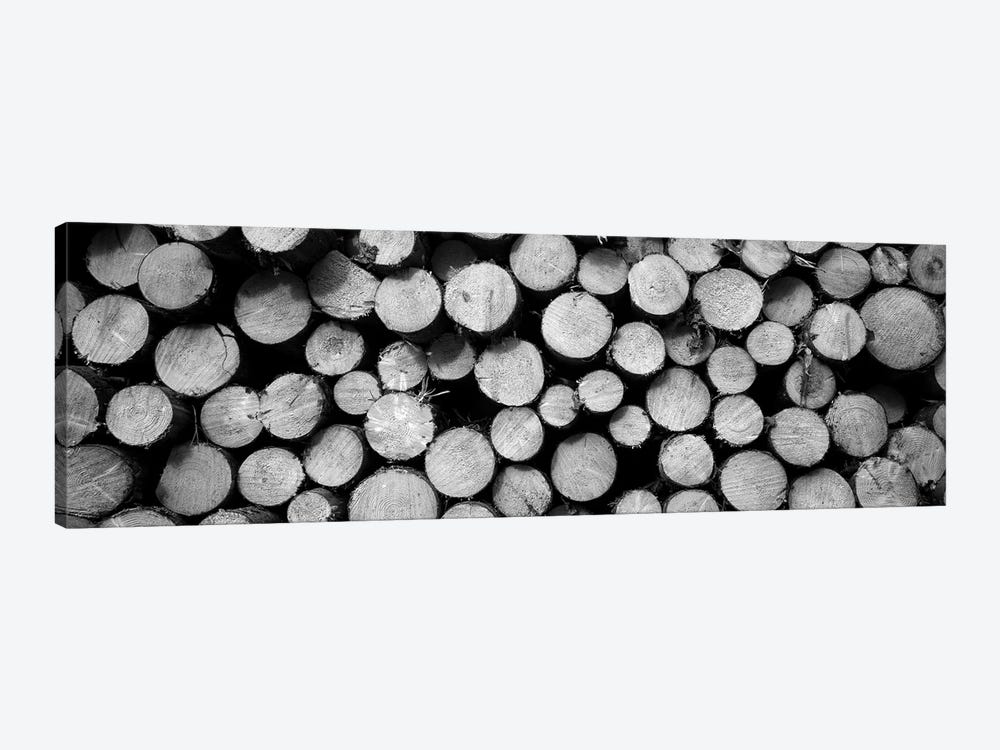 Marked Wood In A Timber Industry, Black Forest, Germany by Panoramic Images 1-piece Canvas Artwork