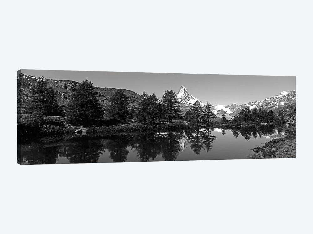 Matterhorn Reflecting Into Grindjisee Lake, Zermatt, Valais Canton, Switzerland by Panoramic Images 1-piece Canvas Print