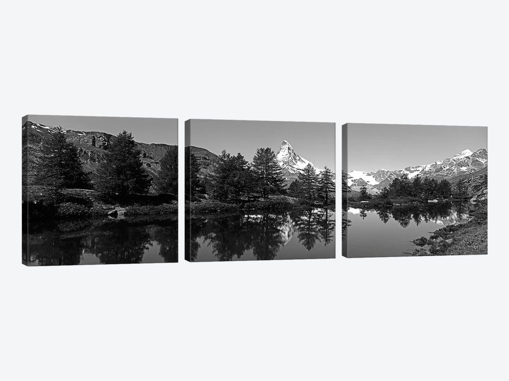 Matterhorn Reflecting Into Grindjisee Lake, Zermatt, Valais Canton, Switzerland by Panoramic Images 3-piece Canvas Print