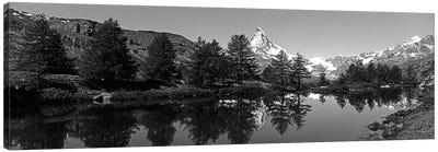 Matterhorn Reflecting Into Grindjisee Lake, Zermatt, Valais Canton, Switzerland Canvas Art Print