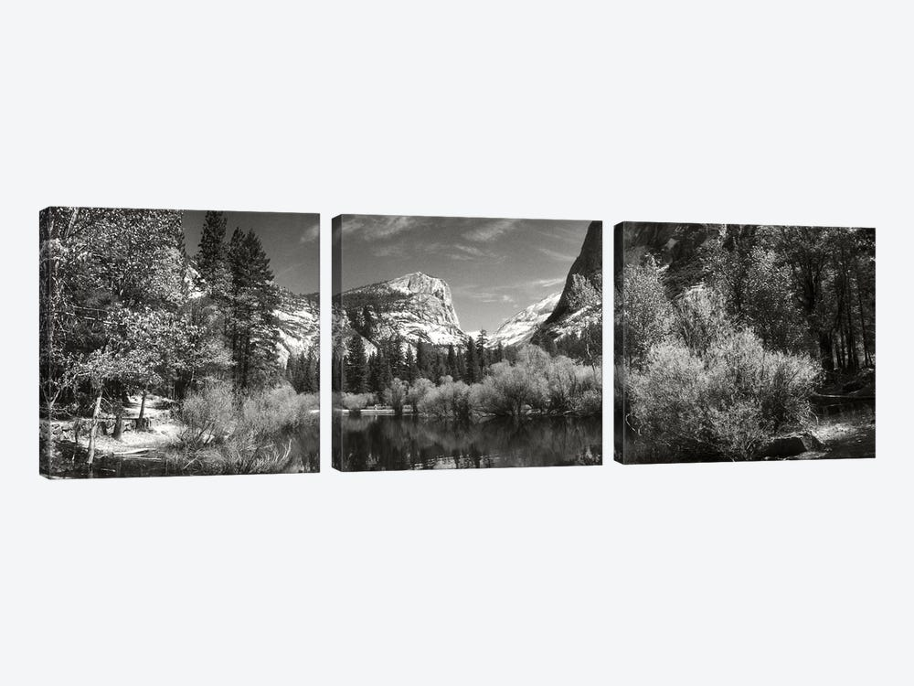 Mirror Lake In Yosemite National Park, Mariposa County, California, USA by Panoramic Images 3-piece Canvas Art