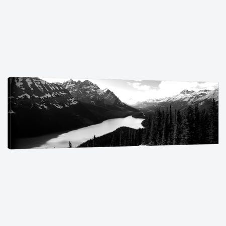 Mountain Range At The Lakeside, Banff National Park, Alberta, Canada Canvas Print #PIM15193} by Panoramic Images Canvas Art