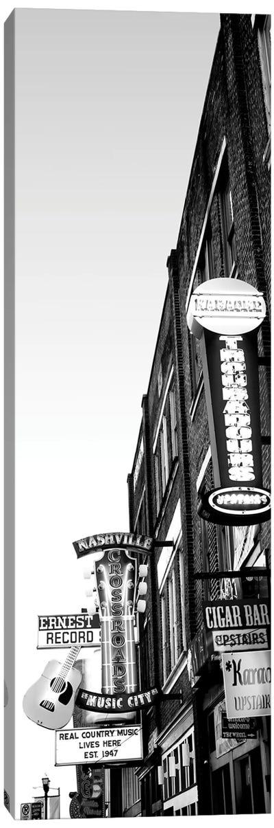 Neon Signs At Dusk, Nashville, Tennessee, USA Canvas Art Print