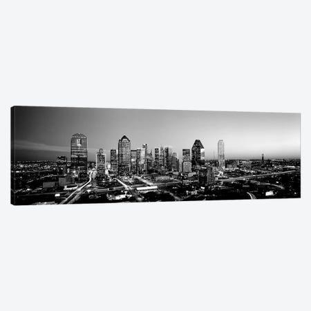 Night, Dallas, Texas, USA 3-Piece Canvas #PIM15195} by Panoramic Images Art Print