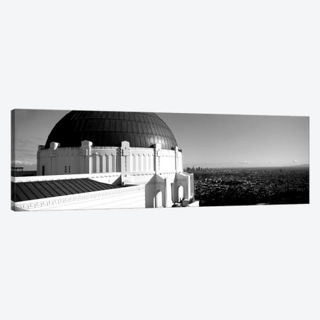 Observatory With Cityscape In The Background, Griffith Park Observatory, Los Angeles, California, USA Canvas Print #PIM15196} by Panoramic Images Canvas Art Print