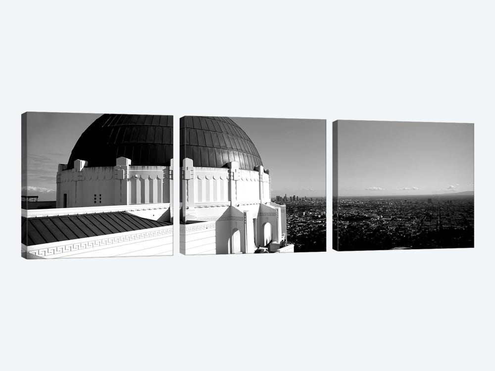 Observatory With Cityscape In The Background, Griffith Park Observatory, Los Angeles, California, USA by Panoramic Images 3-piece Canvas Art