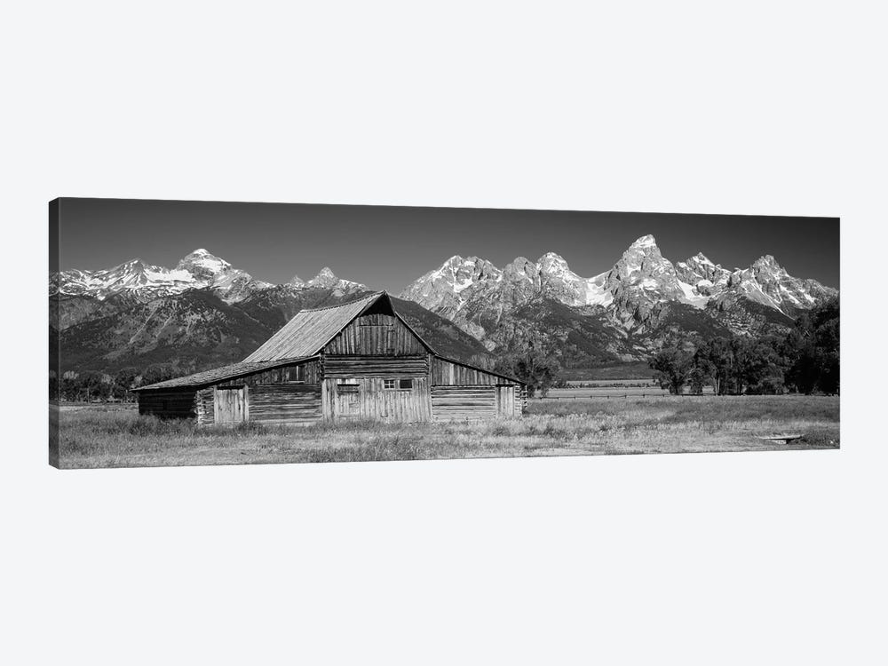Old Barn On A Landscape, Grand Teton National Park, Wyoming, USA by Panoramic Images 1-piece Canvas Print