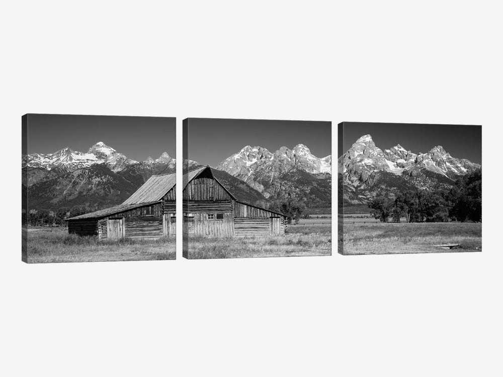 Old Barn On A Landscape, Grand Teton National Park, Wyoming, USA by Panoramic Images 3-piece Art Print