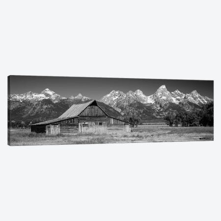 Old Barn On A Landscape, Grand Teton National Park, Wyoming, USA Canvas Print #PIM15197} by Panoramic Images Canvas Print