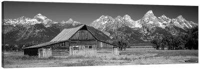 Old Barn On A Landscape, Grand Teton National Park, Wyoming, USA Canvas Art Print